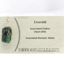 Elemental Allies Emerald Pendant Genuine Gemstone
