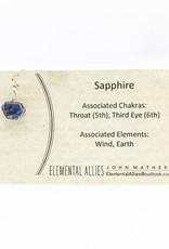 Elemental Allies Sapphire Pendant Genuine Gemstone, Wire Wrapped  Birthstone - September