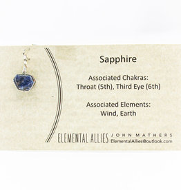 Elemental Allies Sapphire Pendant Genuine Gemstone