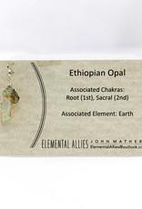 Elemental Allies Ethiopian Opal Pendant Genuine Gemstone, Wire Wrapped  Birthstone - October