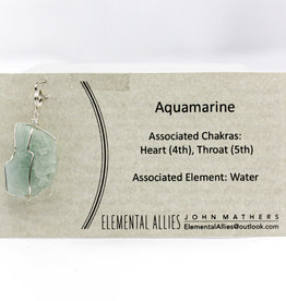 Elemental Allies Aquamarine Pendant Genuine Gemstone