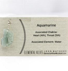 Elemental Allies Aquamarine Pendant Genuine Gemstone