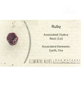 Elemental Allies Ruby Pendant Genuine Gemstone