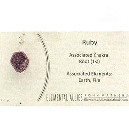 Elemental Allies Ruby Pendant Genuine Gemstone