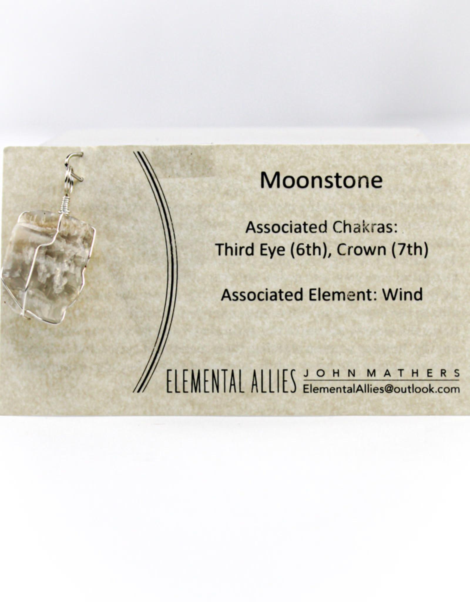 Elemental Allies Meigs Point Moonstone Pendant Genuine Gemstone