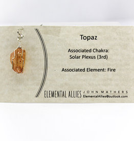 Elemental Allies Topaz Pendant Genuine Gemstone