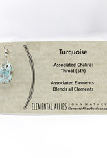 Elemental Allies Turquoise Pendant Genuine Gemstone, Wire Wrapped  Birthstone - December