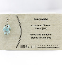 Elemental Allies Turquoise Pendant Genuine Gemstone