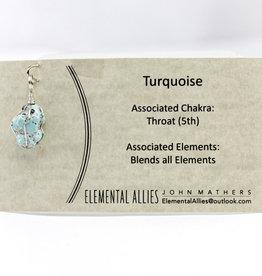 Elemental Allies Turquoise Pendant Genuine Gemstone