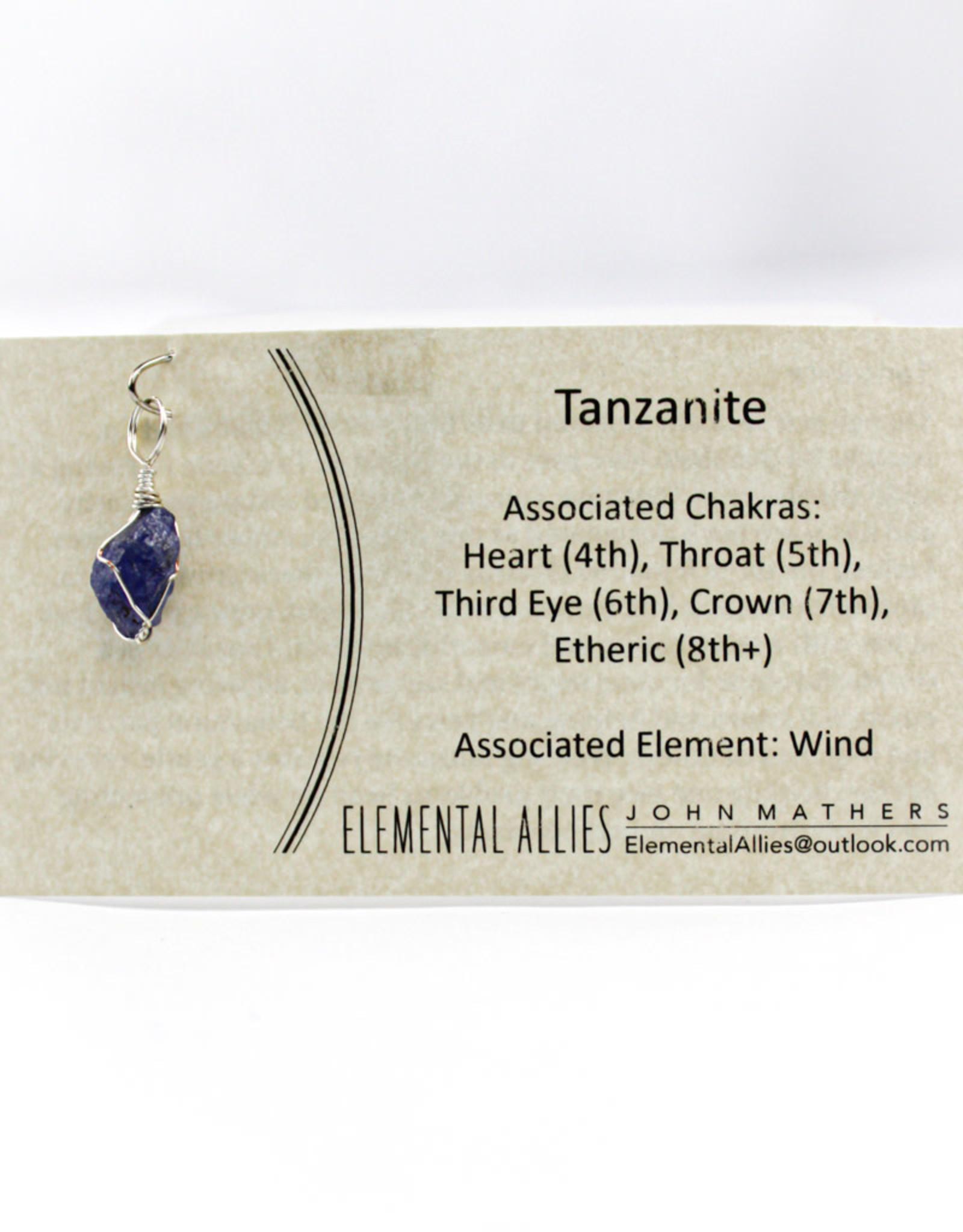 Elemental Allies Tanzanite Pendant Genuine Gemstone, Wire Wrapped  Birthstone - December