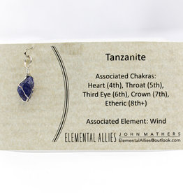 Elemental Allies Tanzanite Pendant Genuine Gemstone