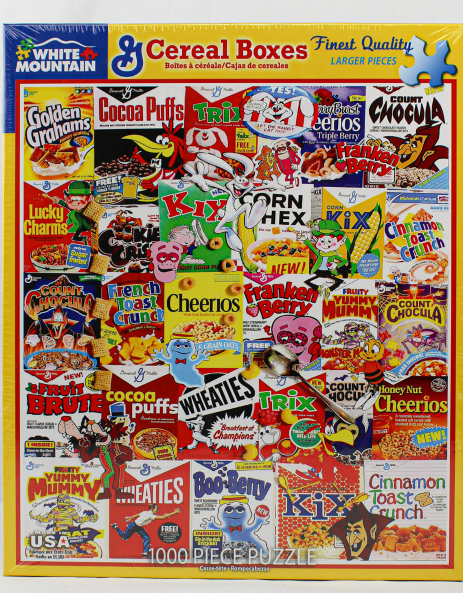 White Mountain Puzzles Cereal Boxes 1000pc Puzzle