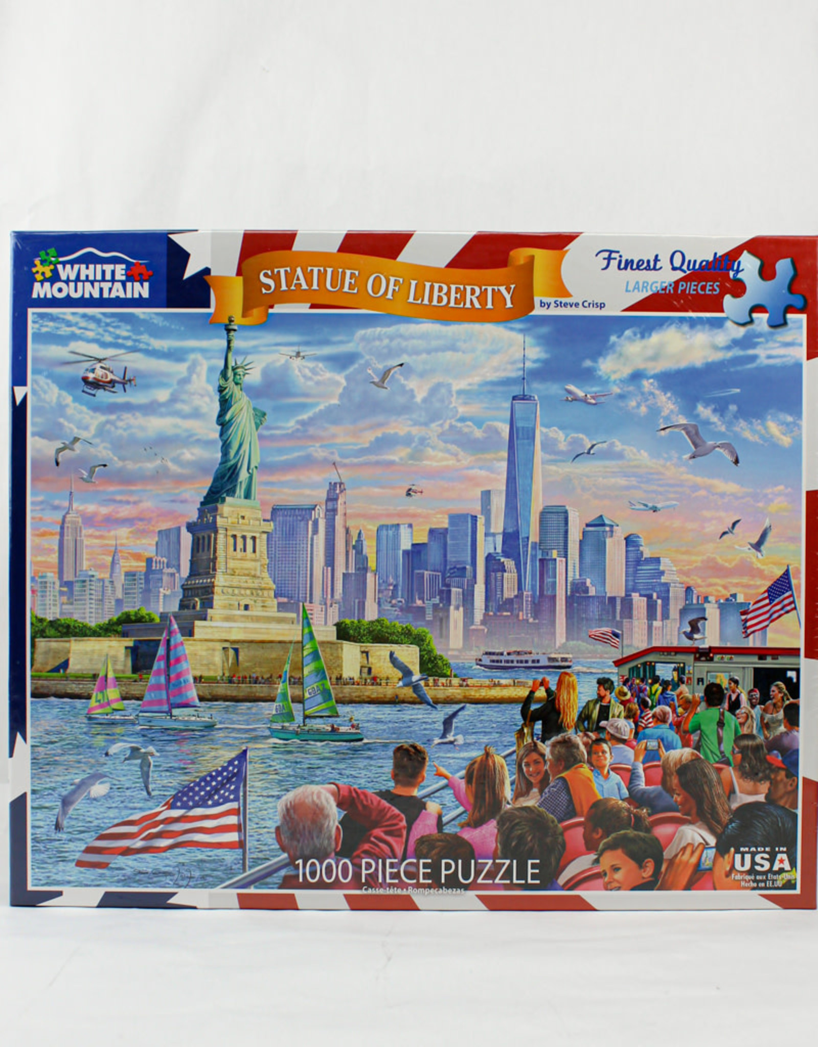 White Mountain Puzzles Statue of Liberty 1000pc Puzzle