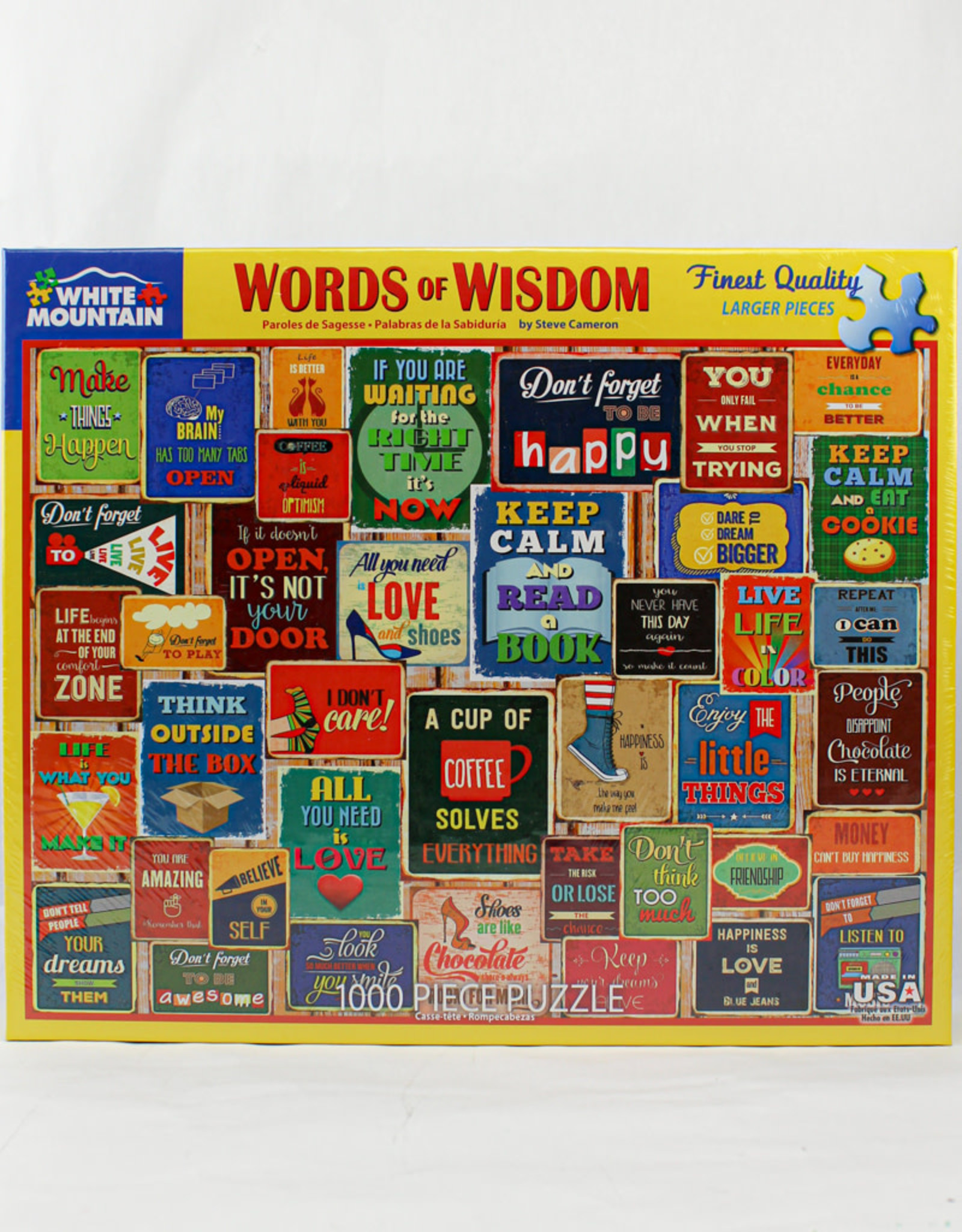 White Mountain Puzzles Words of Wisdom 1000pc Puzzle