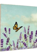 MKC Photography Lavender Butterfly Art Block