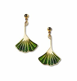 David Howell & Company Gingko Leaf Earrings