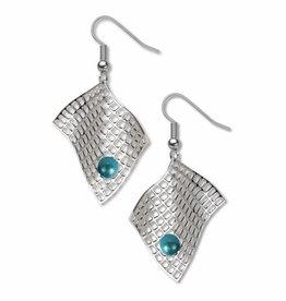 David Howell & Company Diamond Armchair Aqua Earrings