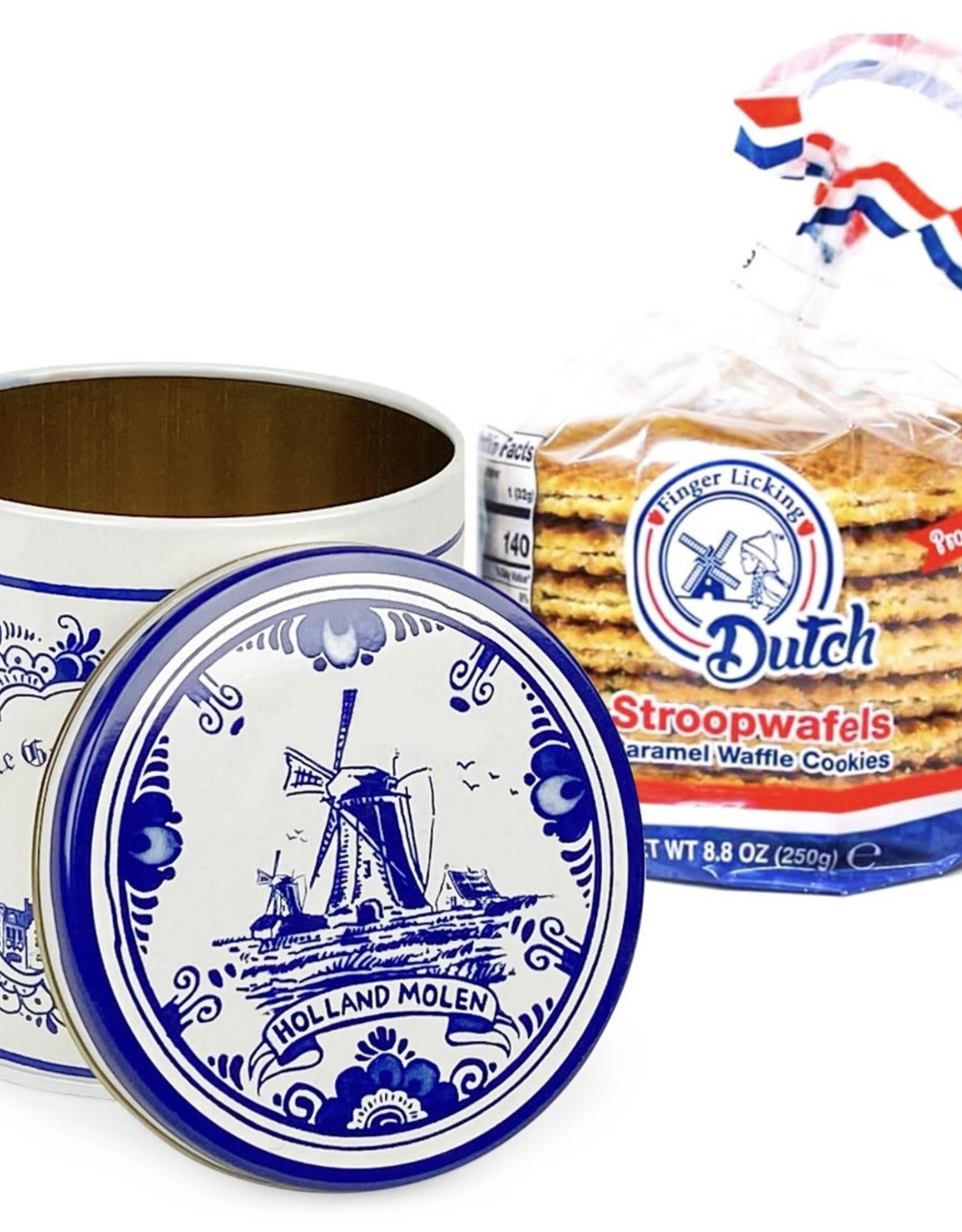 Finger Licking Dutch Caramel Stroopwafel 8pk Tin