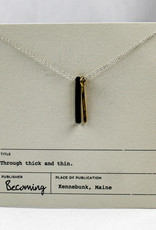 Becoming Jewelry Thick & Thin Necklace