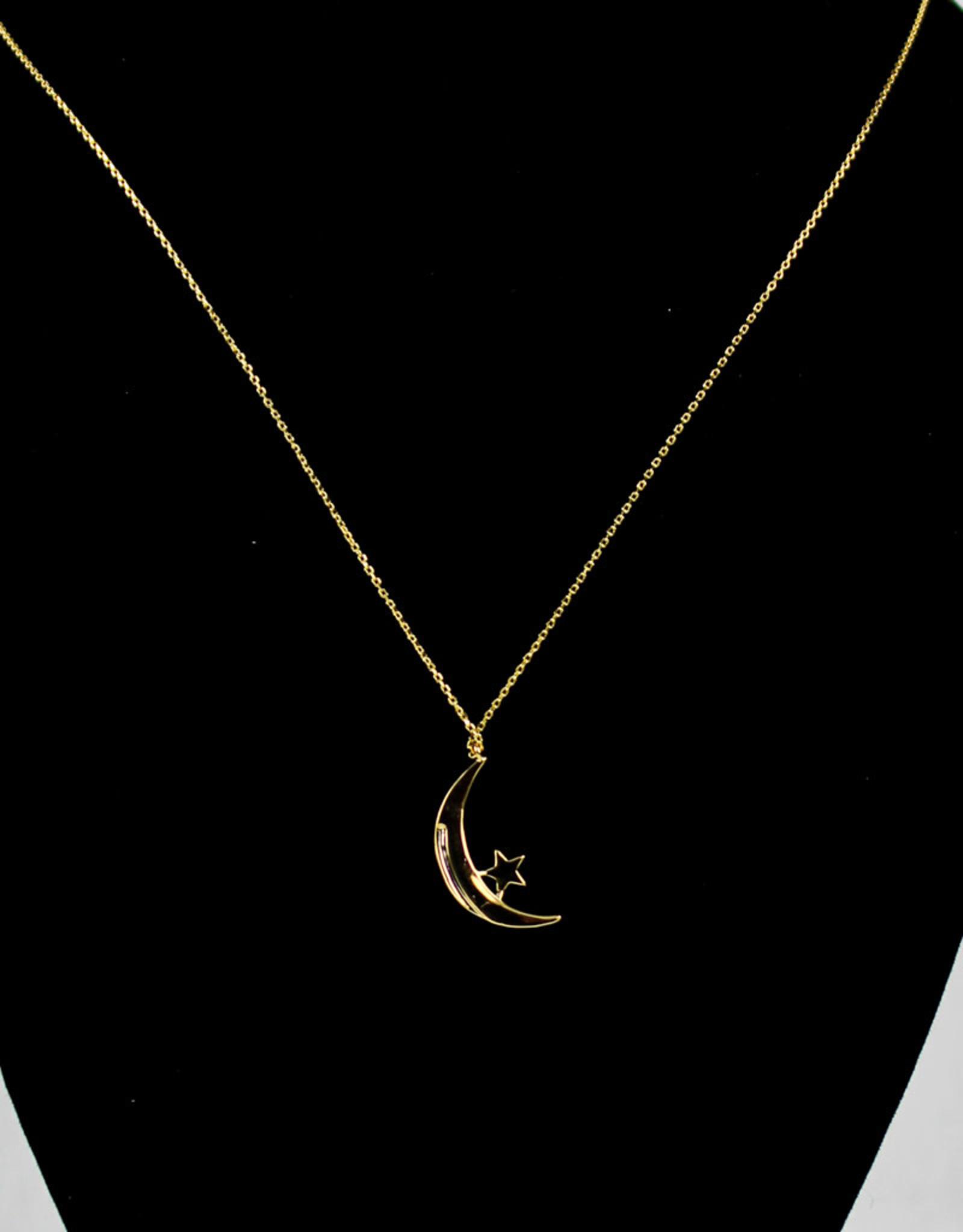 Mesa Blue Celestial Moon & Star Necklace