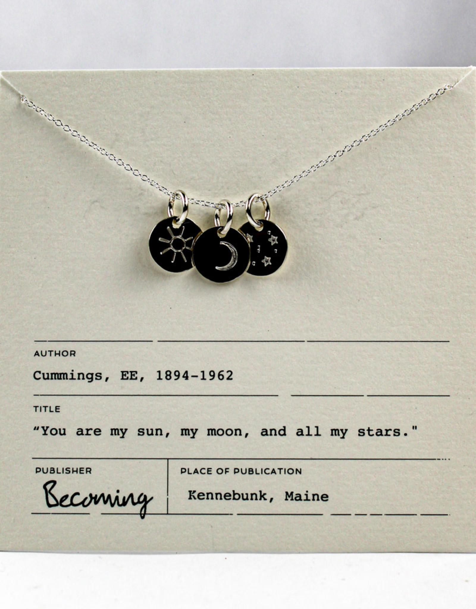 Becoming Jewelry Sun, Moon & Stars Necklace-Sterling