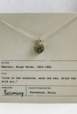 Becoming Jewelry Small Round Wave Necklace-Sterling