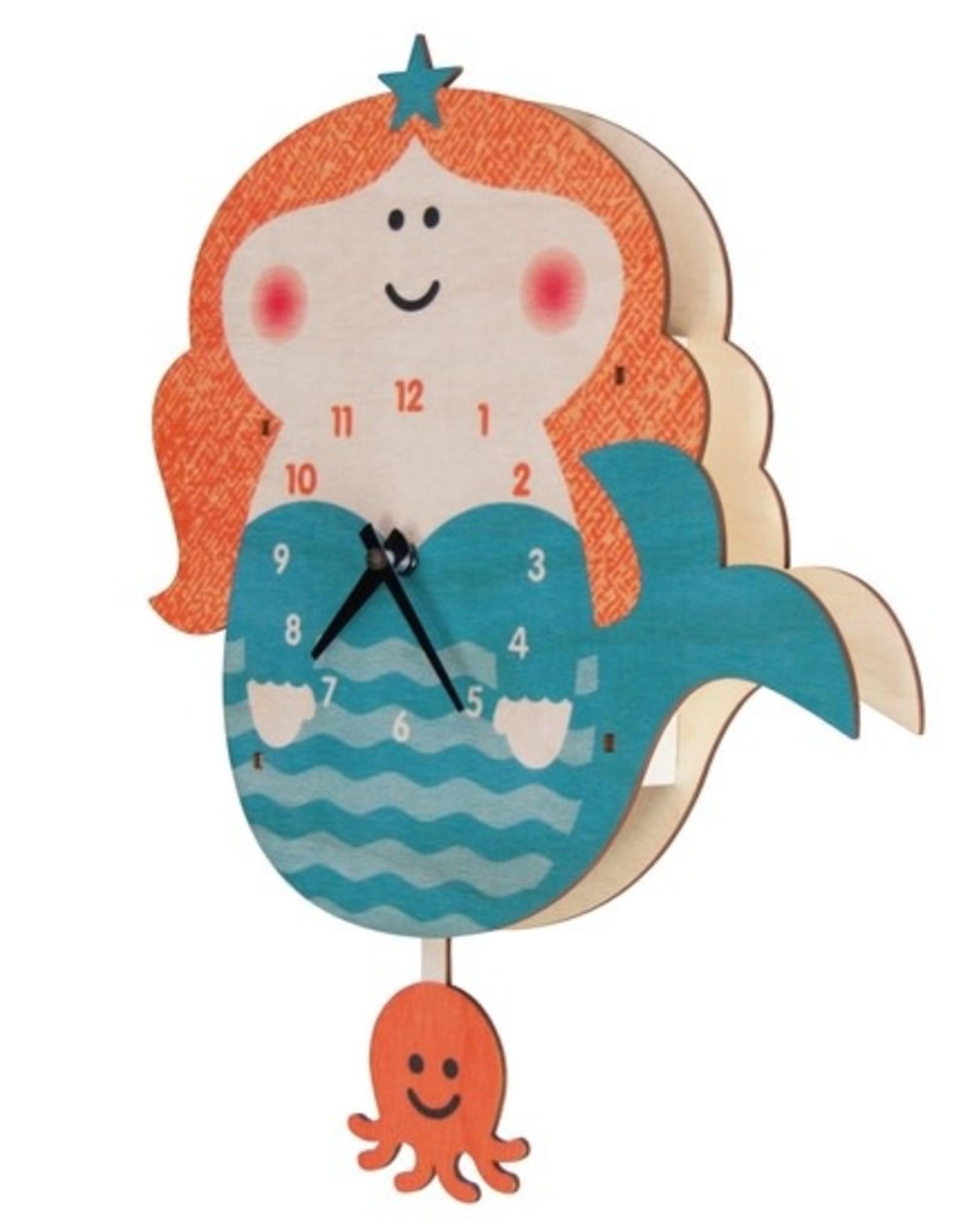 Modern Moose Mermaid Pendulum Clock