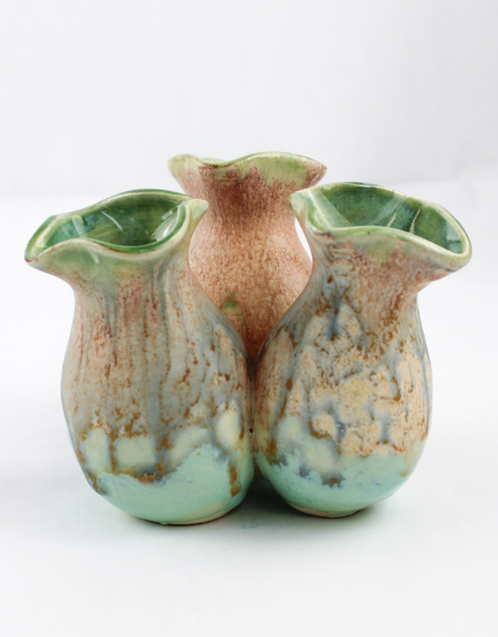 Earth Tones Pottery Wildflower Pot-Celadon Green