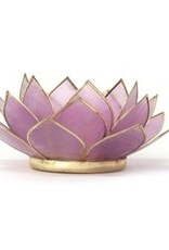 Om Gallery Lotus Tealight Holder Violet