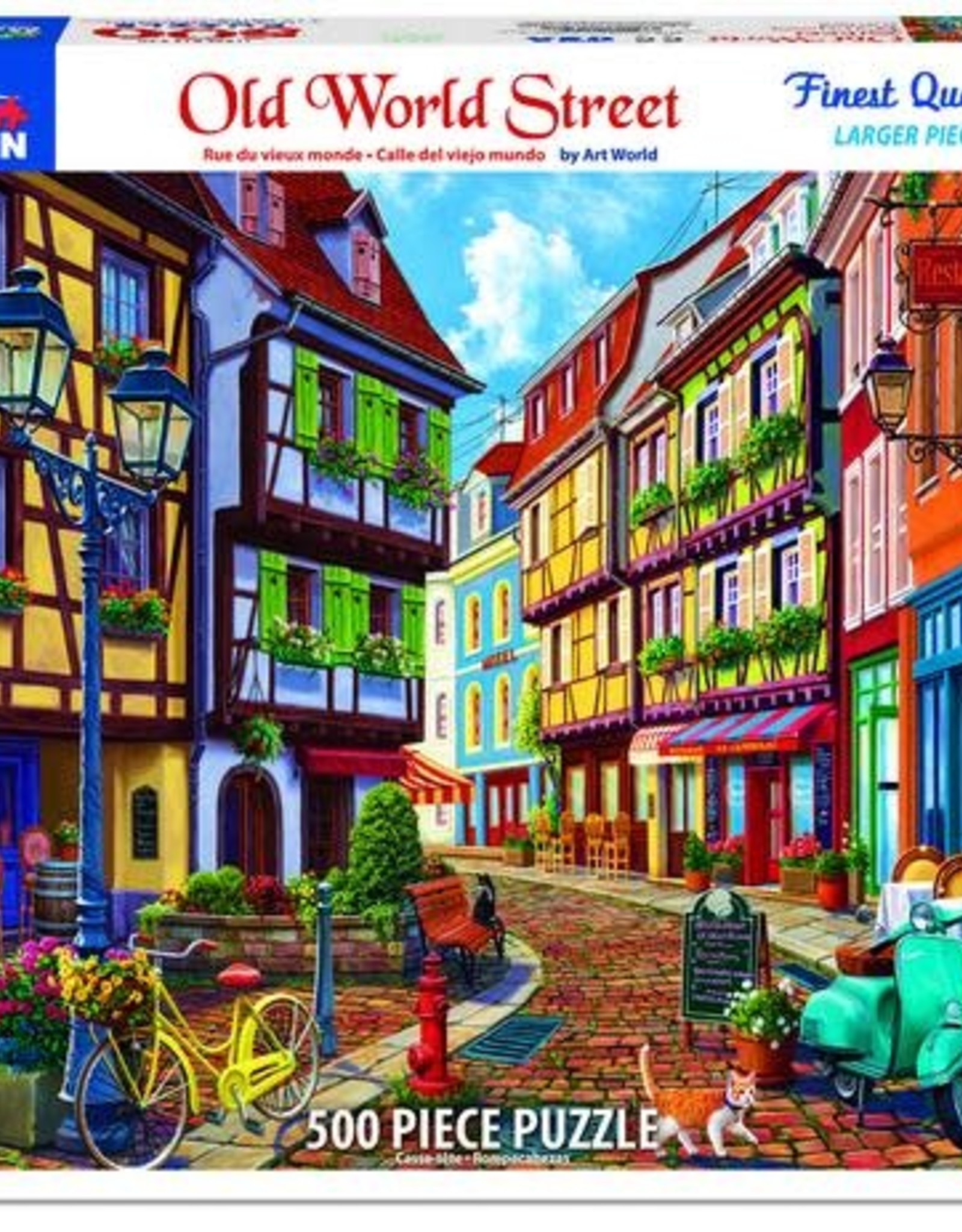 White Mountain Puzzles Old World Street 500pc Puzzle