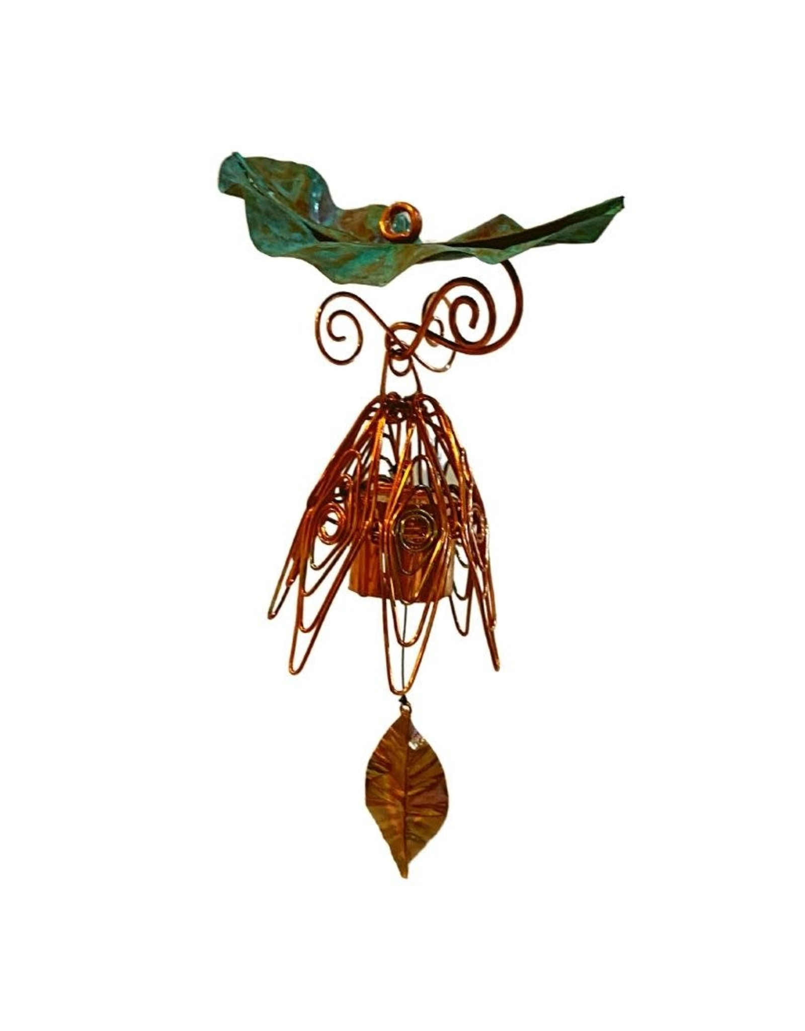 Bellflower Creations Hanging Patina Leaf Chime