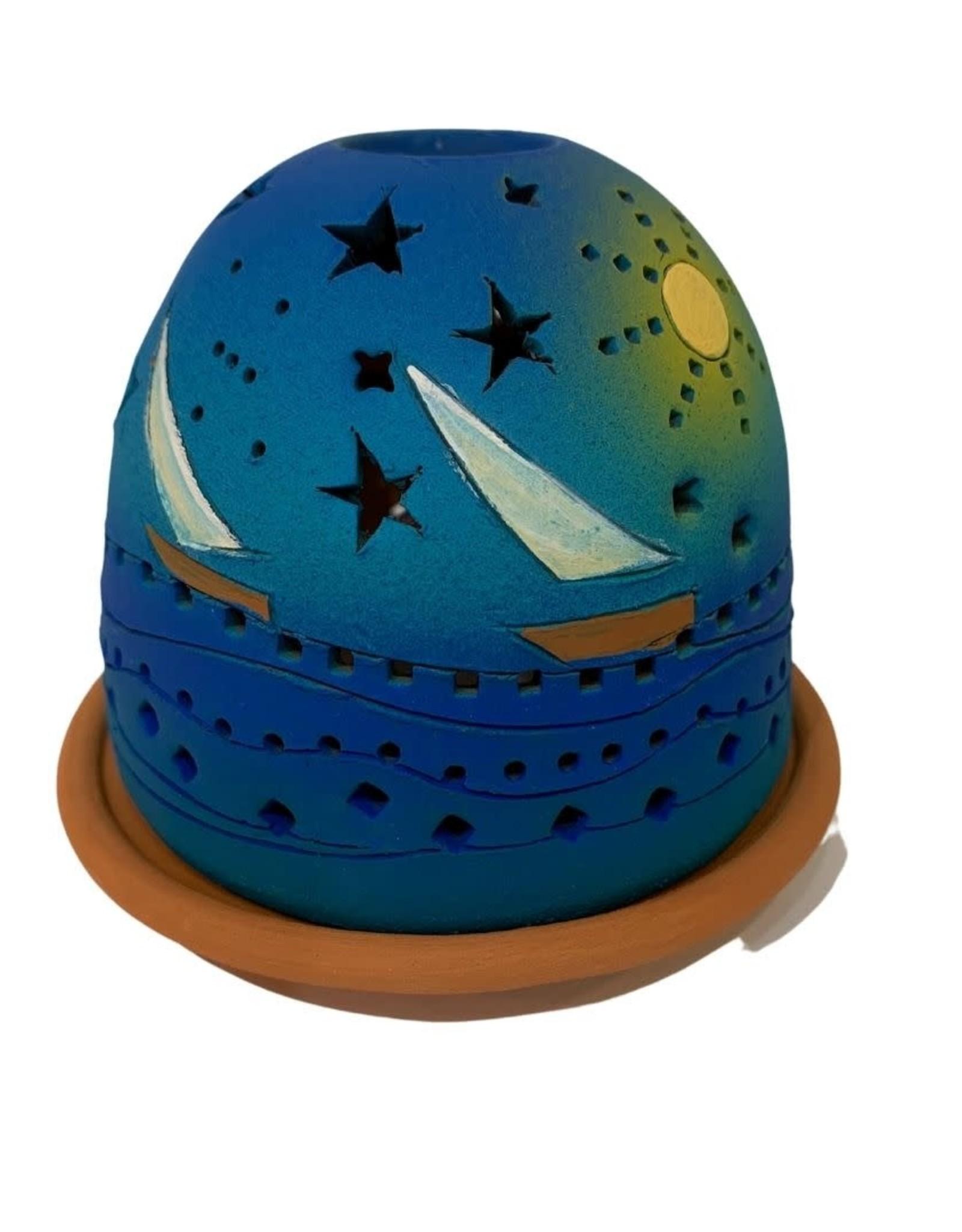 Starry Lights Ceramic Luminary