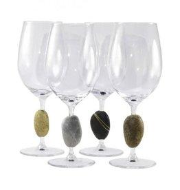 Sea Stones Inc. Touch Stone Wine Glasses