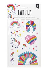 Tattly Rainbow Unicorns Sheets