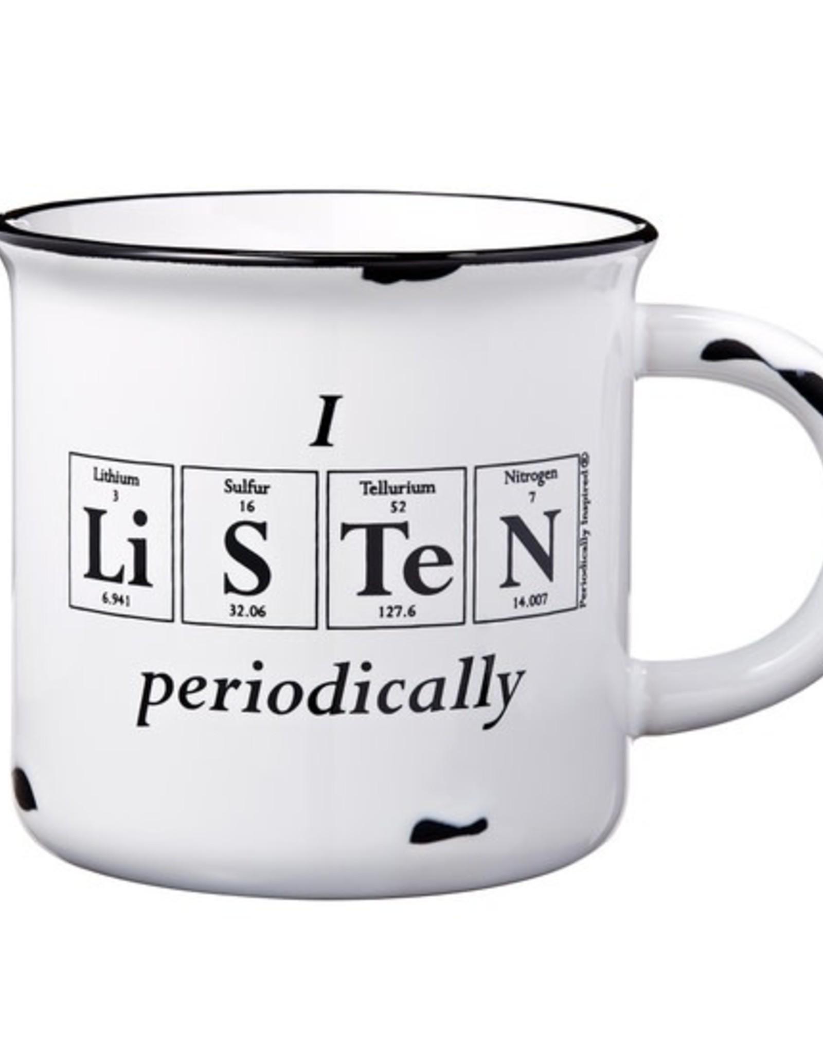 Periodically Inspired I Listen Periodically Mug