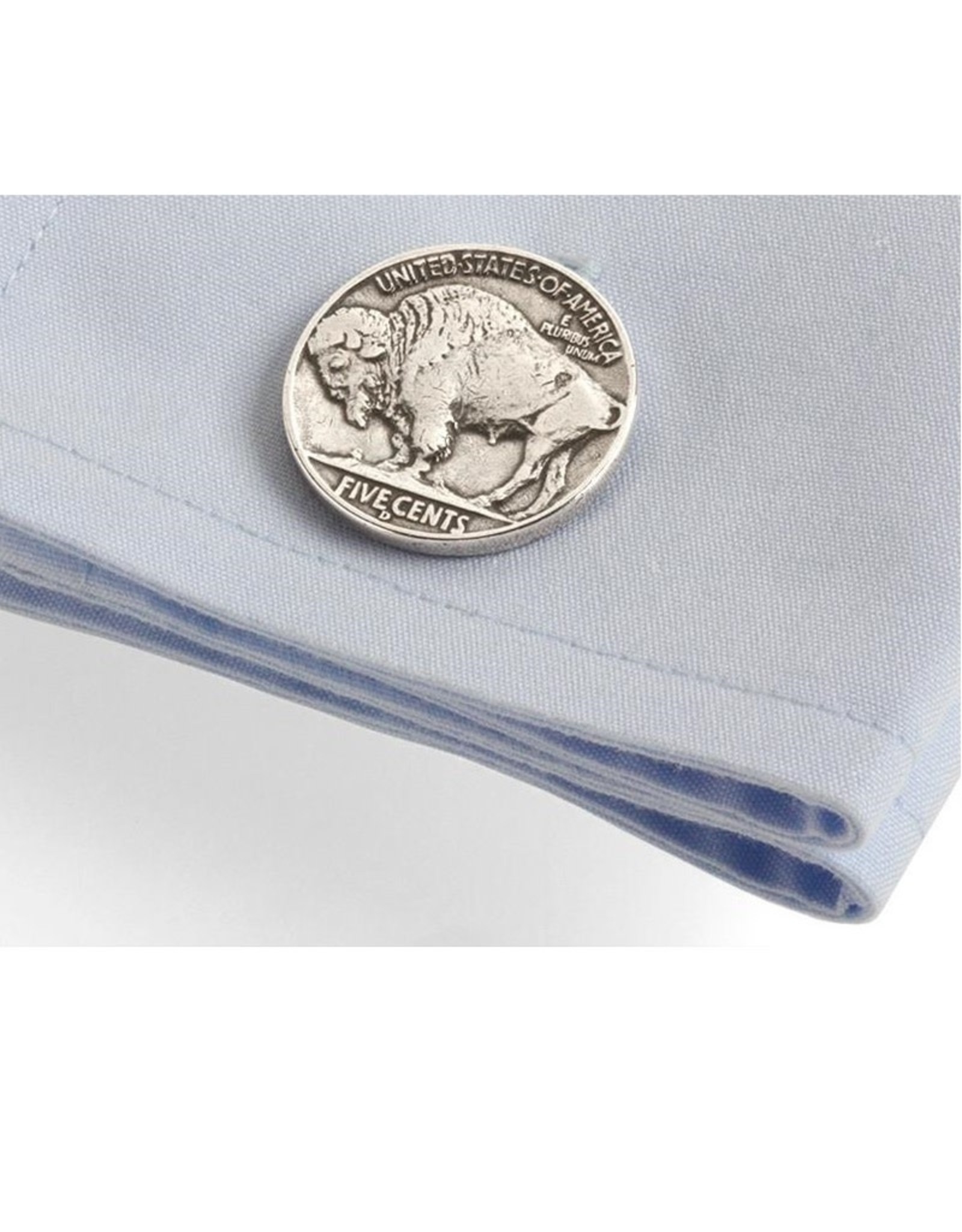 Tokens & Icons Buffalo Nickel Cuff Links