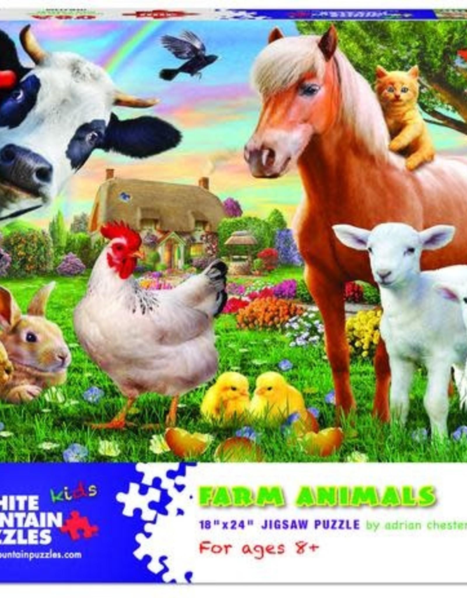 White Mountain Puzzles Farm Animals 300pc Puzzle