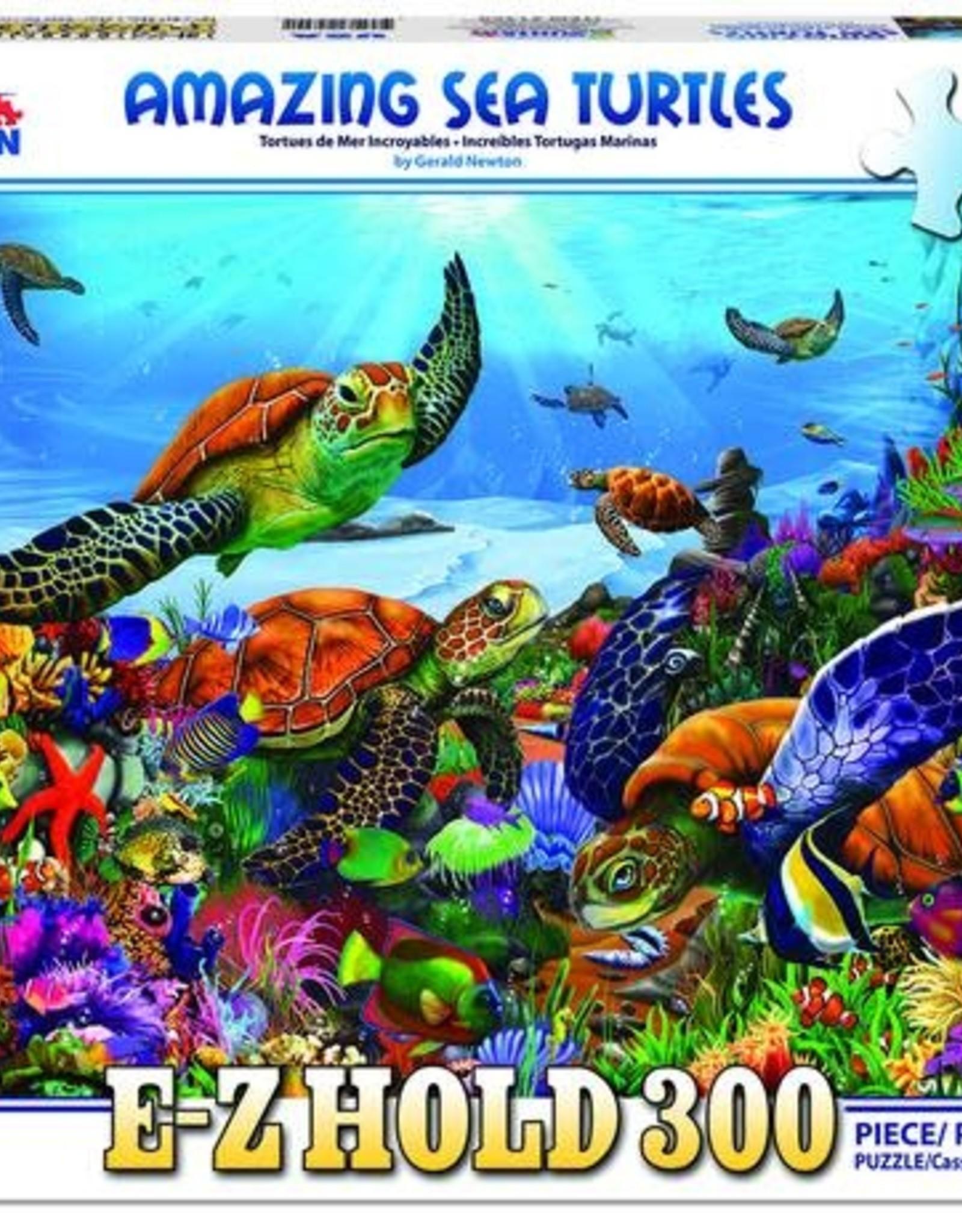 White Mountain Puzzles Amazing Sea Turtles 300pc Puzzle