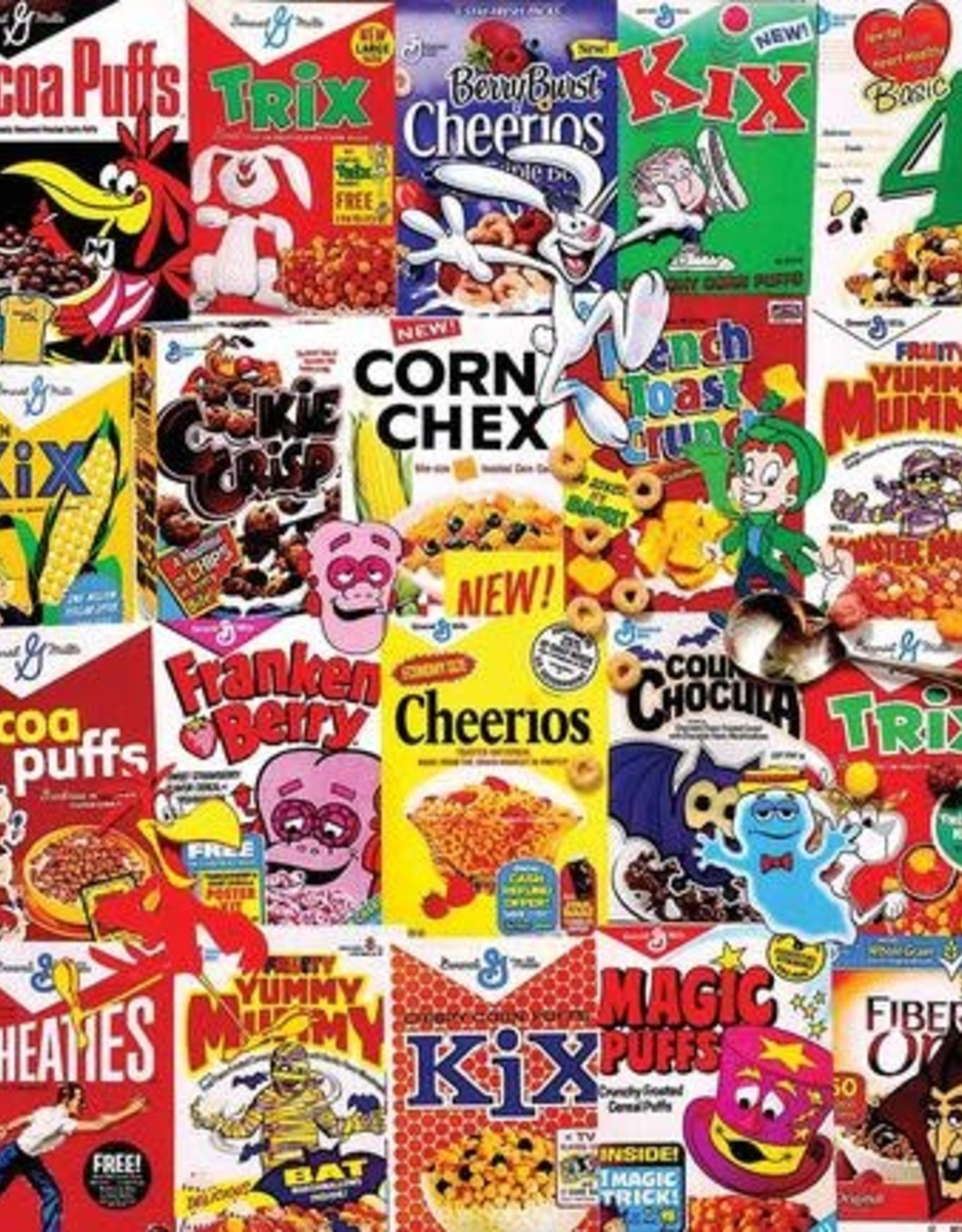 White Mountain Puzzles I Love Cereal 300pc Puzzle