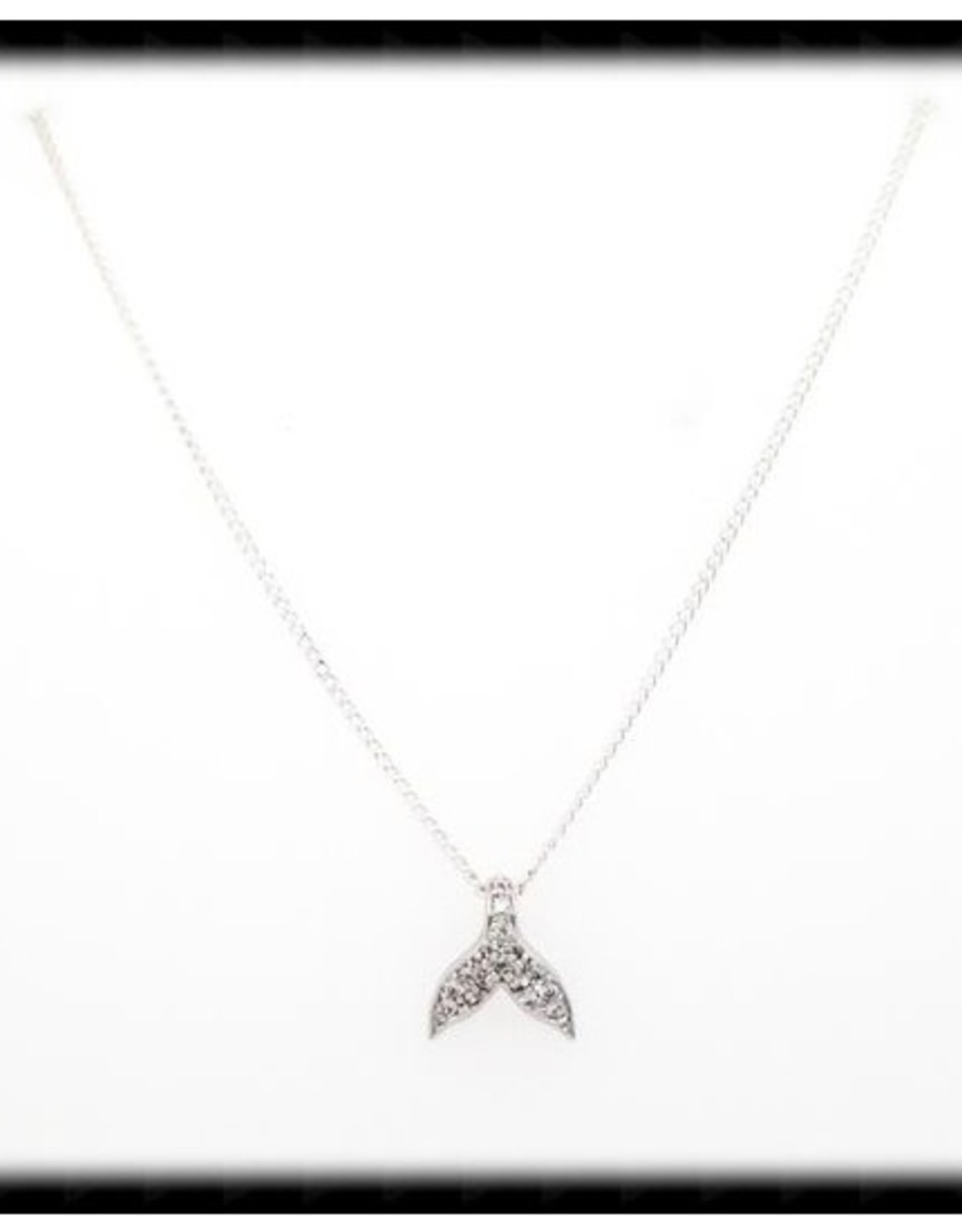 The Beaded Wire Whale's Tail Necklace