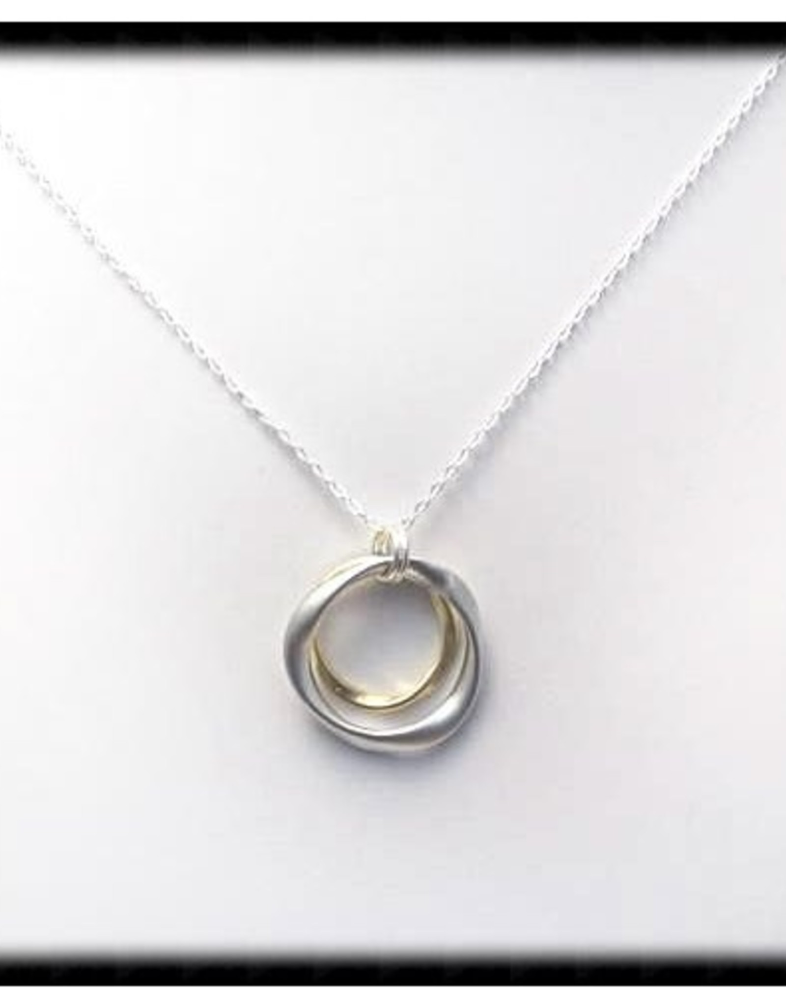 The Beaded Wire Hammered Ring Necklace