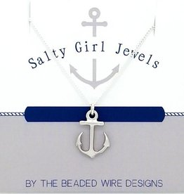 The Beaded Wire Anchor Drop Necklace