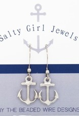 The Beaded Wire Anchor Drop Earrings