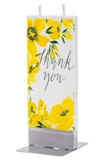 Flatyz Thank You Yellow Floral
