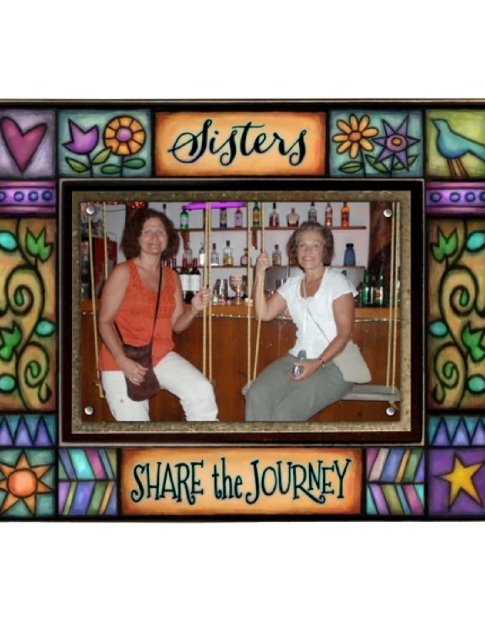 Spooner Creek Designs Sisters Share Wall Plaque