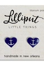 Lilliput Anchor Heart Earrings