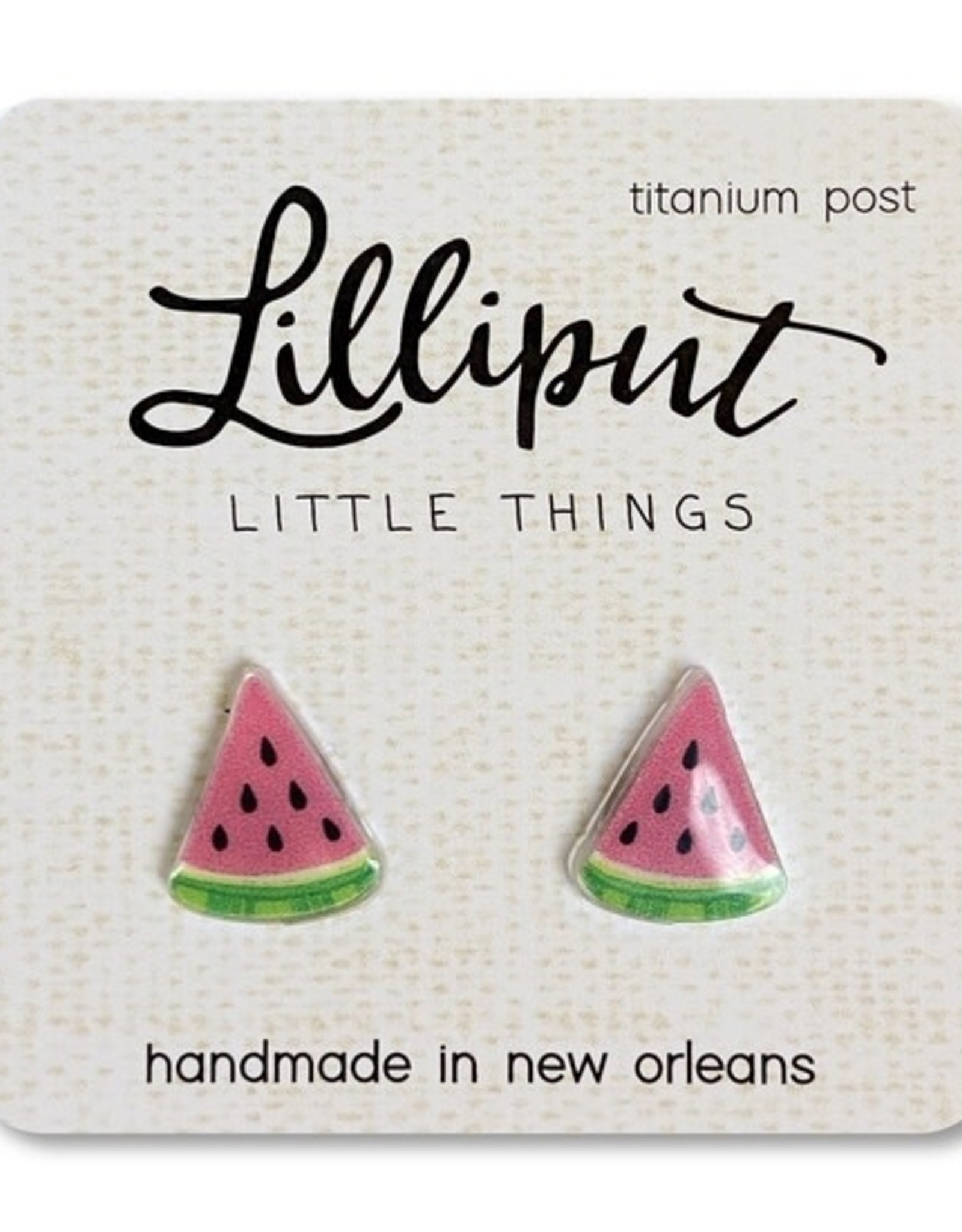 Lilliput Watermelon Earrings