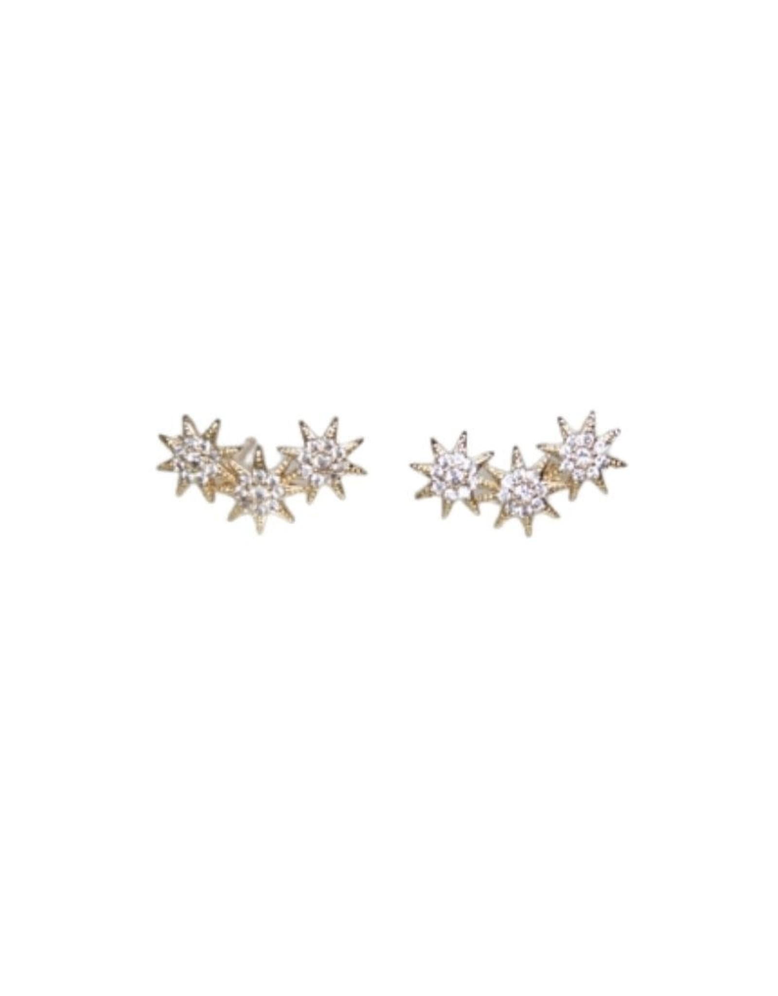 Mesa Blue Zircon Star Climber Earrings