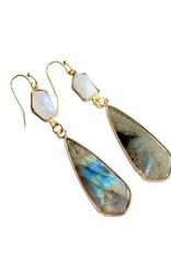 Mesa Blue Moonstone & Labradorite Earrings