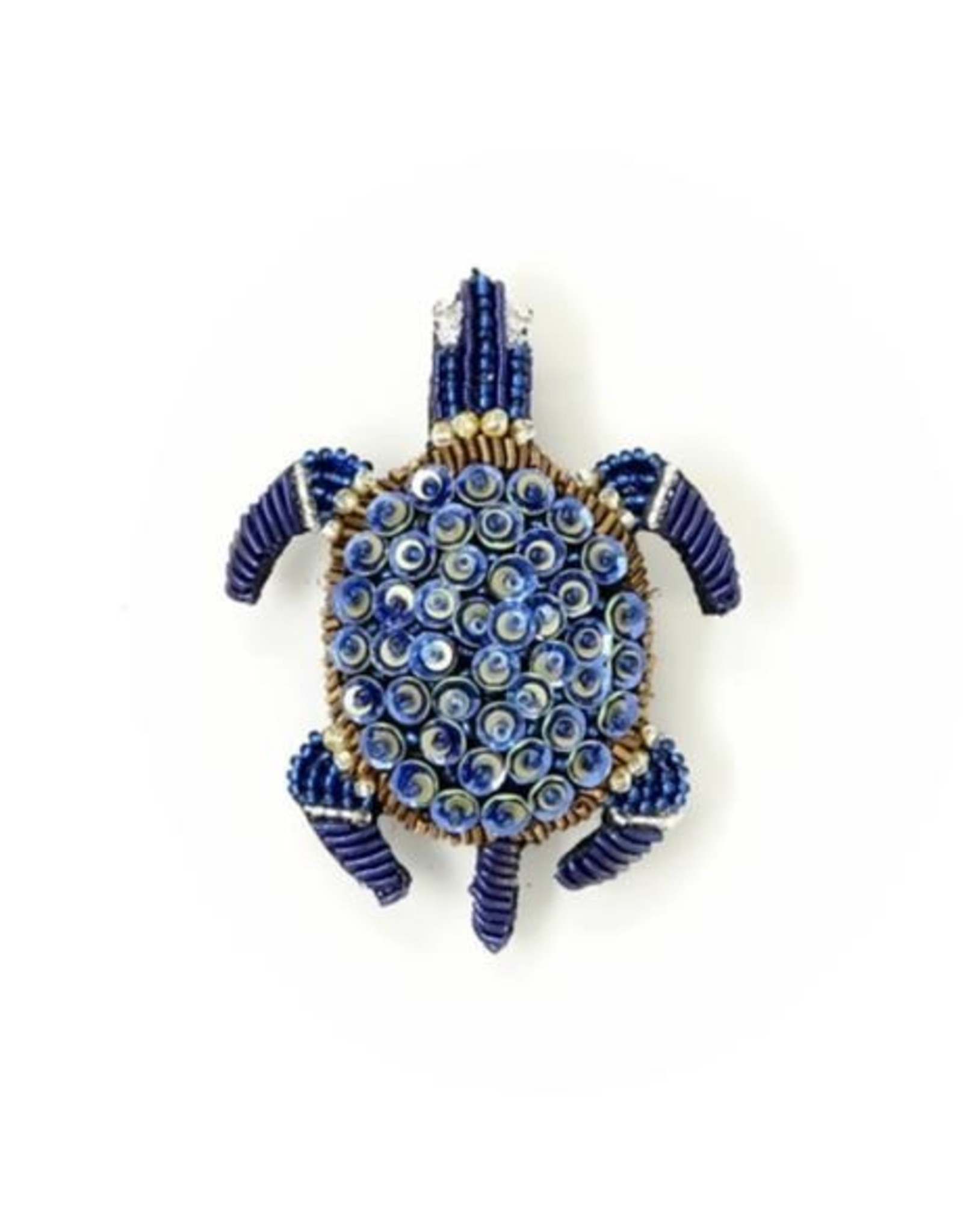 Trovelore Blue Sea Turtle Brooch Pin
